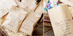 Ceremony Exit Ideas: Confetti Program Bag (by Mavora Art & Design)
