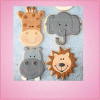 Our Crazy JungleCookie Cutter Sets are composed of 4 different animals: Giraffe, Elephant, Hippo, Lion. Cleaning instructions: hand wash, towel dry. Buy your