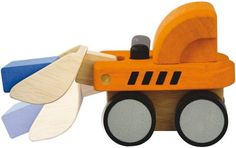 $10.95 PlanToys Mini Bulldozer. Simple and fun to operate, the Mini Bulldozer will provide instructive, friendly learning. By pressing the black knob, children will experience control as the bulldozer starts lifting its load. The toy will enhance fine motor skills and hand-eye coordination. Children will develop observational and problem-solving skills, which are the basis of science, through observing the toys mechanism. Parents can tell stories about the driver to help broaden a childs