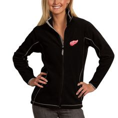 Women s Detroit Red Wings Antigua Black Ice Full Zip Jacket Products e352c350b