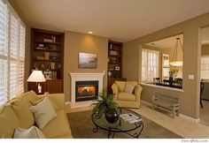3 Capable Tips AND Tricks: Living Room Remodel Ideas Rustic living room remodel before and after entrance.Living Room Remodel Before And After Exposed Beams living room remodel on a budget thoughts.Living Room Remodel On A Budget Thoughts. Half Wall Kitchen, Open Kitchen And Living Room, Dining Room, Kitchen Pass, Basement Remodeling, Basement Storage, Basement Ideas, Basement Flooring, Basement Plans