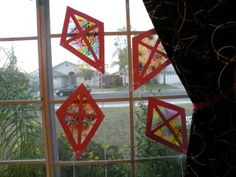 Melted Crayon Suncatcher Kites