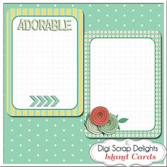 12 Island Project Life Style Journal Cards in by DigiScrapDelights