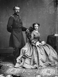 Mathew Brady: George Armstrong Custer and Elizabeth Bacon Custer, between 1860 and 1865