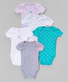 This Purple Butterfly Bodysuit Set - Infant is perfect! #zulilyfinds