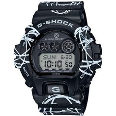 G-Shock Men's Digital Futura Collaboration Black Printed Resin Strap... ($180) ❤ liked on Polyvore featuring men's fashion, men's jewelry, men's watches, black, mens watches, mens watches jewelry, g shock mens watches and mens digital watches - watches, womens, designer, simple, mvmt, rosefield watch *ad