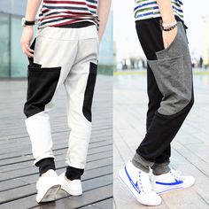 2014 men's spring clothing casual harem pants men trousers male outdoors sports hip-hop pants drop crotch baggy sweatpants $23.00