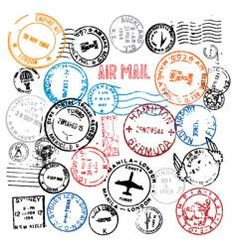 Post, Postmark, Stamp & Stamps Vector Images (over
