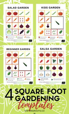 garden layout I love to square foot garden, but I never know that vegetable to put where in my raised beds--its so hard to make a plan. Now I dont have to guess with these free printable square foot gardening templates using the seeding square! Raised Vegetable Gardens, Vegetable Garden Planning, Vegetable Garden Design, Vegetable Gardening, Flower Gardening, Beginner Vegetable Garden, Raised Bed Gardens, Vegetables Garden, Small Yard Vegetable Garden Ideas