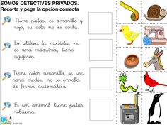 (2015-05) Gåder Spanish Lesson Plans, Spanish Lessons, Spanish Classroom, Teaching Spanish, Spanish Worksheets, Montessori Activities, Eric Carle, Special Needs, Speech Therapy