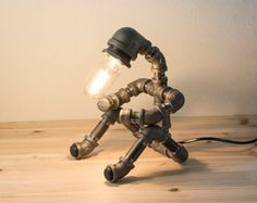 PIPESTORY Pipe lamp / Iron pipe lamp / by PipeStoryLamp on Etsy                                                                                                                                                                                 More