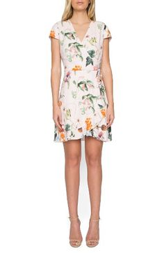 Willow & Clay Willow & Clay Floral Wrap Dress available at #Nordstrom