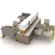 This incredibly user-focused application relies on Haworth Beside Storage to create a physical workstation boundary. Individual needs are supported through ample storage, a Planes height-adjustable table, and sliding doors for more contained, private overhead storage. At the same time, the environment as a whole supports the team's ability to collaborate. #haworth #poestlouis