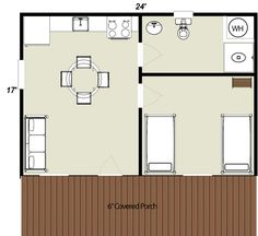 vacation log cabin floorplan