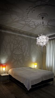 Chandelier that turns your room into a forrest!