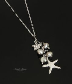 18k White Goldplated Freshwater Pearl Starfish by MichelleMilward, $32.50