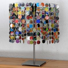 Lampenschirm aus Getränkedosen Lampshade from soda cans By Recycling-art