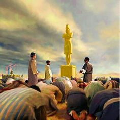 The three Hebrew boys refused to bow down to the golden image, giving worship that rightly belonged only to JEHOVAH God.