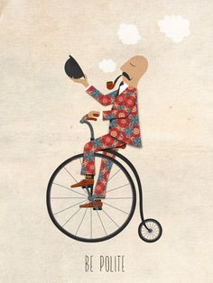 Bjørn Normann - Be polite (with a mustache, on a bike)