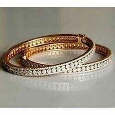 Diamond Bracelets, Silver Bracelets, Diamond Jewelry, Bangle Bracelets, Silver Rings, Gold Bangles Design, Gold Jewellery Design, Silver Jewellery, Jewelry Designer
