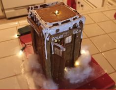 Dr Who Gingerbread Tardis