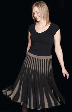 What a fun skirt this would be to knit and wear! Check out the Ashley skirt and more Louet PDF patterns at yarn.com.