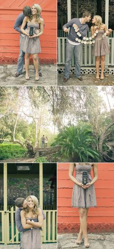 && more engagement photo ideas...I love the one that says we're getting hitched y'all!