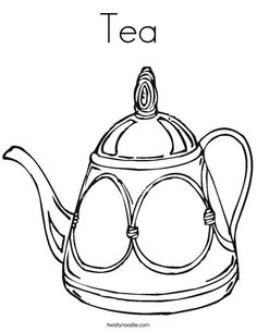 Tea Coloring Page from TwistyNoodle.com