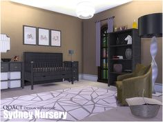 Sims 4 CC's - The Best: Sydney Nursery by QoAct