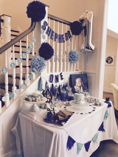 Dessert table for baby's first birthday | Baby Boy | Nautical
