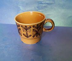 Vintage Scandinavian Pottery Norway 2757 Norge Brown Glazed Ceramic CUP #MidCenturyModern