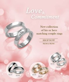 introducing our new collection of his or hers matching couple rings select a symbol of