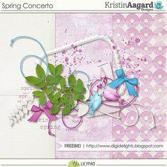 Quality DigiScrap Freebies: Spring Concerto mini kit freebie from Kristin Aagard Designs