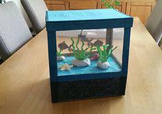 How to Build An Aquarium Stand Canopy 1 3 Aquarium Stand, Diy Aquarium, Valintine Box Ideas, School Projects, Projects For Kids, Carport With Storage, Origami, Doll Furniture, Secret Santa