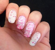 Pretty pink and white nails For more fashion and wedding inspiration visit www.findiforweddings.com Nail Art