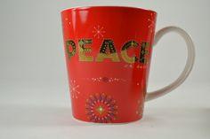 Starbucks Red Peace Mug 14oz Coffee Hot Chocolate 2006 #Starbucks