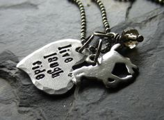 Hey, I found this really awesome Etsy listing at http://www.etsy.com/listing/126531673/hand-stamped-horse-quote-necklace-for
