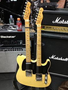 Richie Sambora's Fender Telecaster double neck.. Used for one song, and one song only (Have A Nice Day)