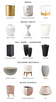15 must-have planters - Mint Modern Home Indoor Flower Pots, Indoor Plant Pots, Indoor Planters, Potted Plants, Pots For Plants, Planter Pots, House Plants Decor, Plant Decor, Modern Plant Stand