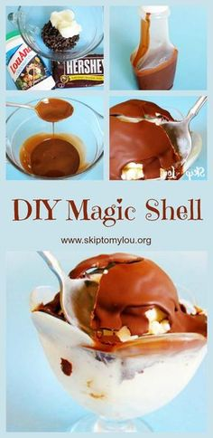 This ice cream topping is so delicious and super ea… Homemade magic shell recipe! This ice cream topping is so delicious and super easy to make Frozen Desserts, Easy Desserts, Delicious Desserts, Yummy Food, Frozen Treats, Best Quinoa Recipes, Fun Easy Recipes, Cheap Recipes, Healthy Recipes