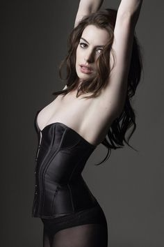 Anne Hathaway should just be a lingerie model, because wtf? Fabulous.