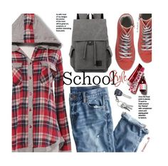 """School Style"" by beebeely-look ❤ liked on Polyvore featuring J.Crew, Happiness, BackToSchool, school, plaid, backpack and sammydress"
