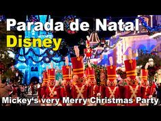 Parada de Natal Magic Kingdom Parque - Walt Disney World - YouTube