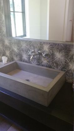 Concrete Trough Vessel Sink