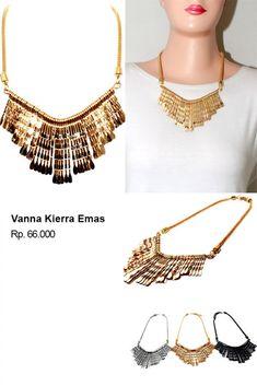 Shvana Kalung Vanna Kierra Emas - Model : Kalung terbuat dari logam dengan model simpleBahan : Resin, AlloyPanjang Kalung  54 x 63 CmLebar Kalung  13 Cm  #jualassesories #jualbahanaksesoris #jualankalung #jualkalungmurah #jualfashionwanita