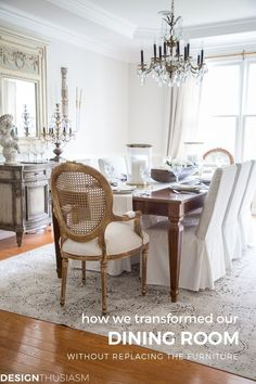 From Old School To Modern: The Evolution Of A French Country Dining Room