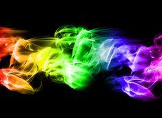 Neon smoke background : Desktop and mobile wallpaper : Wallippo