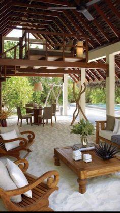 Modern Outdoor Living Space- My future backyard Outdoor Rooms, Outdoor Gardens, Outdoor Decor, Outdoor Lounge, Outdoor Seating, Backyard Seating, Indoor Outdoor, Outdoor Bedroom, Outdoor Patios