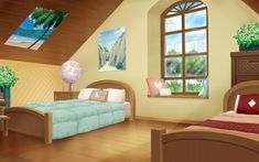 simple anime room - Google Search