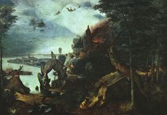 Landscape with the Temptation of St Anthony. Pieter Bruegel The Elder. 1557. Oil on canvas. 59 x 86 cm. National Gallery of Art. Washington.